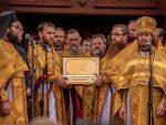 В Голосеевский монастырь Украинской Православной Церкви переданы святыни, связанные с именем свт. Спиридона Тримифунтского