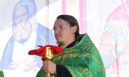 Настоятель Никольского храма с. Лакедемоновка иерей Николай Владимирович Кравченко
