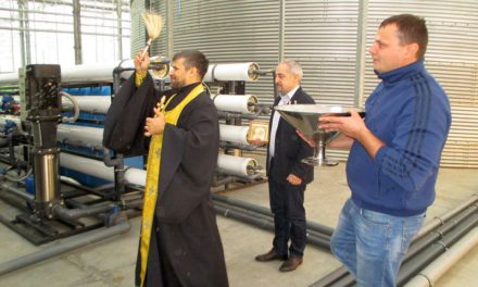 Клирик Таганрогского благочиния совершил чин освящения помещений тепличного комбината «Ростовский»