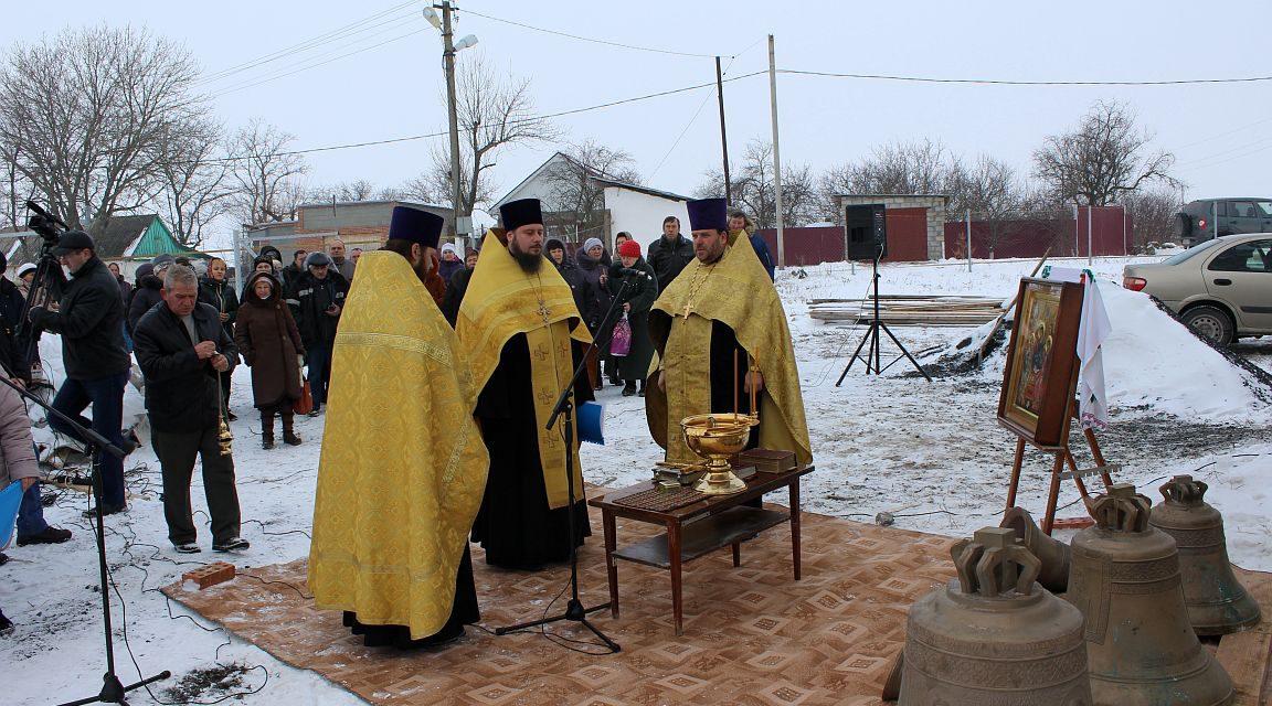 Состоялось освящение колоколов для колокольни Свято-Троицкого храма с. Ивановка