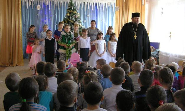 В детсаду и средней школе села Андреево-Мелентьево прошли концерты приходской воскресной школы Магдалининского прихода