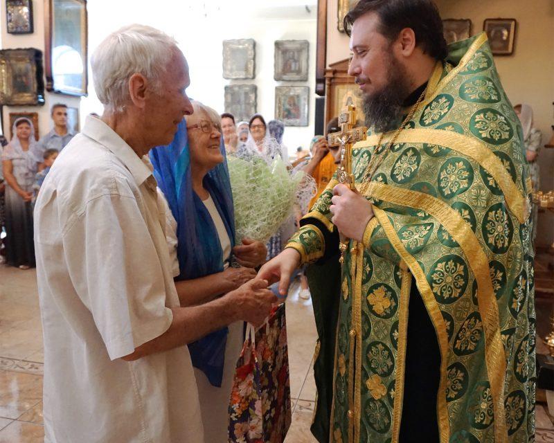 В день памяти свв. Петра и Февронии в Георгиевском храме чествовали многодетные семьи и супругов, проживших в браке более 40 лет