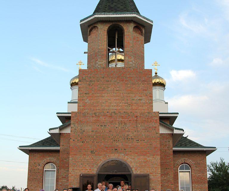 В селе Платово отметили пятилетие новопостроенного Никольского храма