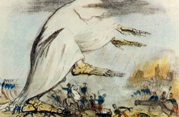 Холера завоёвывает Европу. Иллюстрация 1831 года