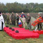 На Аллее Героев у мемориала «Самбекские высоты» состоялась торжественная церемония захоронения останков погибших советских солдат
