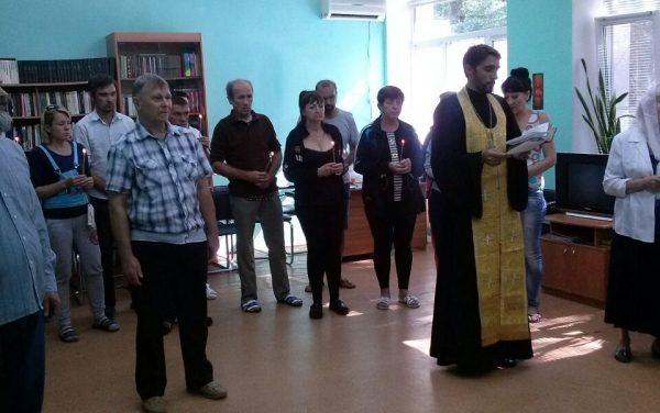 Руководитель медико-просветительского центра «Трезвение» совершил молебен в наркологическом стационаре г. Таганрога