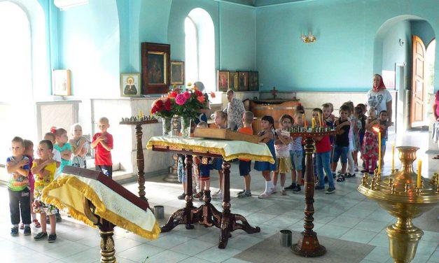 В праздник Рождества Пресвятой Богородицы воспитанники детского сада побывали на богослужении в Магдалининского храме с. Андреево-Мелентьево