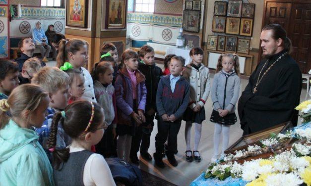 Ученики средней школы № 23 Таганрога посетили храм Иерусалимской иконы Божией Матери