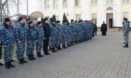 Священники Таганрогского благочиния приняли участие в праздновании Дня героя в ОМОН г. Таганрога