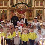 В Сергиевском храме Таганрога воспитанники воскресной школы поздравили прихожан с Рождеством Христовым