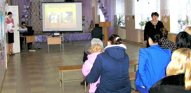 На родительском собрании в Сухо-Сарматской школе состоялась беседа о православном воспитании детей