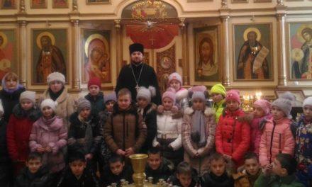 Храм преподобного Сергия Радонежского г. Таганрога посетили учащиеся средней школы № 3