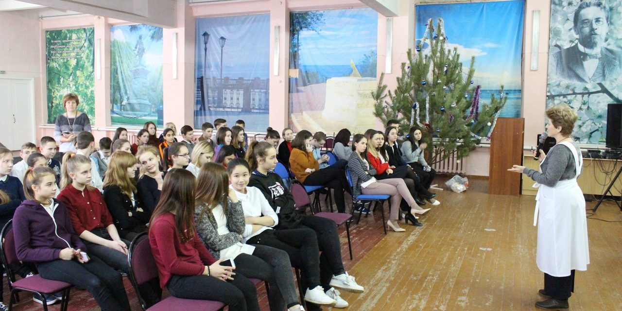 Сестры милосердия Елисаветинского сестричества встретились с учащимися школы №34 г.Таганрога