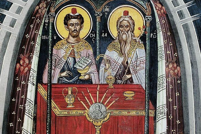 Моисей и аарон в скинии