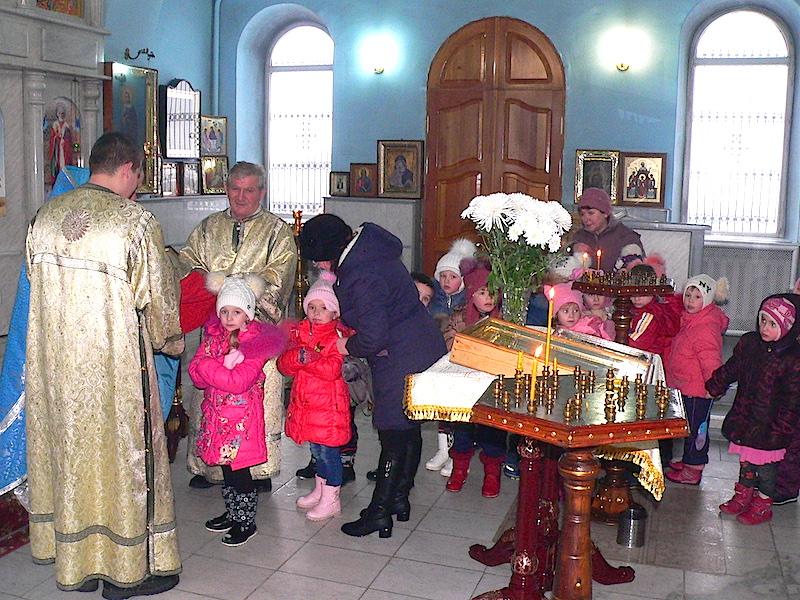 Воспитанники детского сада «Сказка» села Андреево-Мелентьево встретились с настоятелем Магдалининского прихода