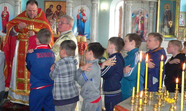 В Магдалининском храме с. Андреево-Мелентьево на Светлой седмице школьники причастились Святых Христовых Таин