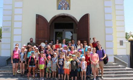 Завершил свою работу летний лагерь при Никольском храме