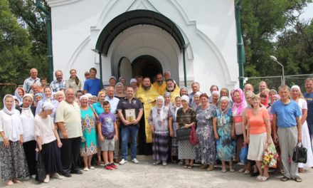 В Таганроге состоялся первый молебен в отреставрированной Свято-Владимирской часовне