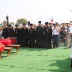 Священнослужители Таганрогского благочиния приняли участие в юбилейных памятных мероприятиях в честь освобождения Ростовской области от немецко-фашистских захватчиков