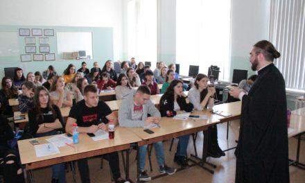 Диакон Георгий Канча провел лекции-дискуссии для бакалавров и магистрантов ЮФУ