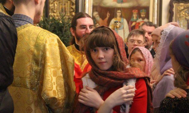 3 января 2019 года в Георгиевском храме состоялось общее говение воспитанников воскресной школы