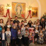 7 января воспитанники воскресной школы Никольского храма поздравили с Рождеством Христовым родителей и прихожан храма