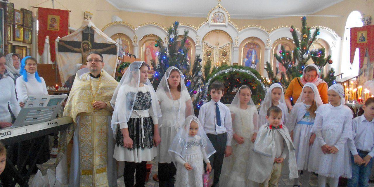 В Вознесенском храме с. Новобессергеневка для прихожан прошёл Рождественский утренник