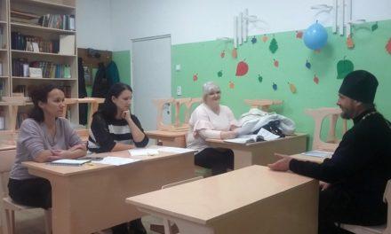 Настоятель Покровского храма с. Покровское Неклиновского района провел рабочую встречу с преподавателями ОПК