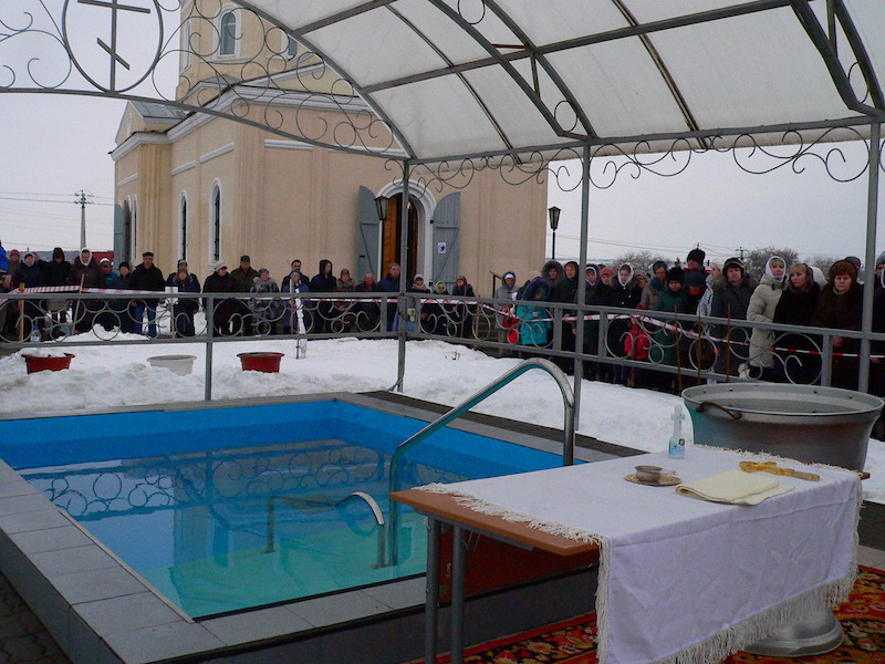 В Магдалининском приходе с. Андреево-Мелентьево состоялись крещенские купания