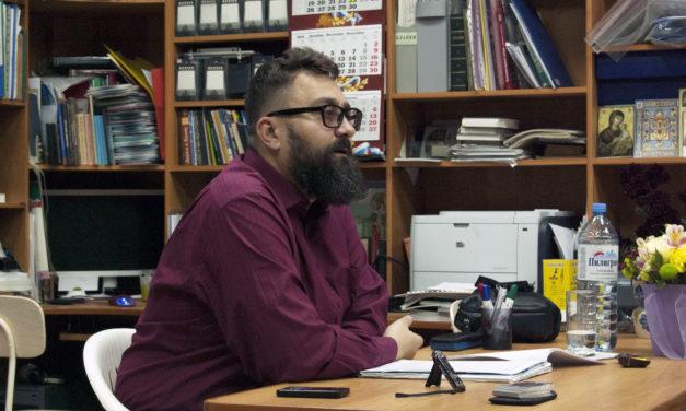 3 февраля в Центре семьи и молодежи г.Таганрога донецкий поэт, писатель и патролог Артем Перлик рассказал о схиархимандрите Гаврииле (Стародубе)
