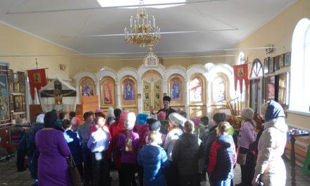 В Неделю о блудном сыне в Вознесенском храме состоялась экскурсия школьников средней общеобразовательной школы