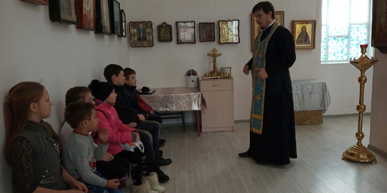 Настоятель храма Александра Невского с. Вареновка провел открытый урок для воспитанников приходской воскресной школы