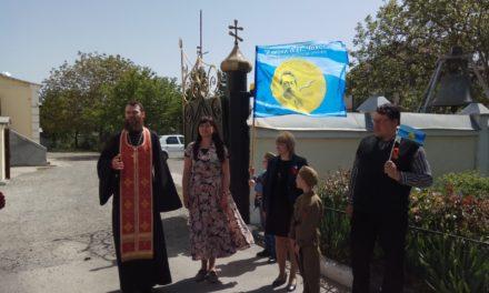 У Никольского храма г.Таганрога стартовал автопробег Таганрогского института имени А.П. Чехова