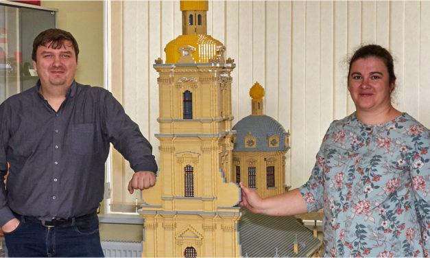 Петербуржцы подарили таганрожцам модель Петропавловского собора
