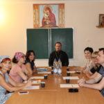 В храме Иерусалимской иконы Божией Матери Таганрога состоялась встреча клирика прихода и председателя АНО «Луч Надежды»