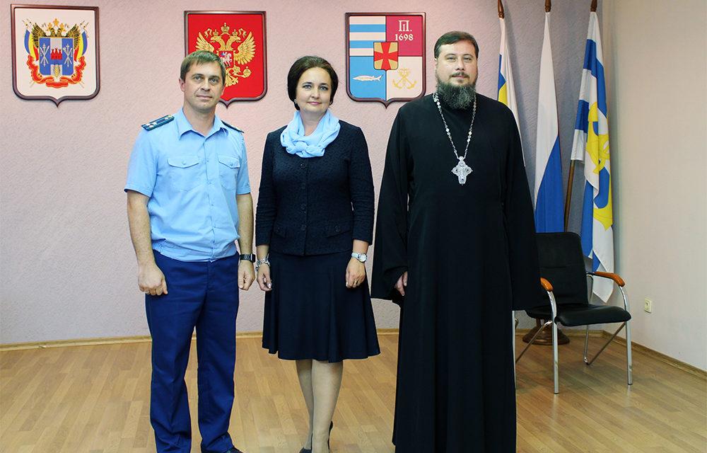 Благочинный таганрогского округа протоиерей Алексей Лысиков присутствовал на первом заседании городской думы седьмого созыва