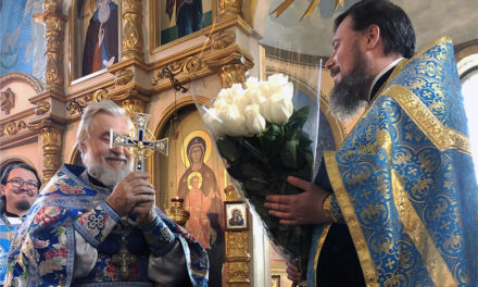 В Одигитривском храме Таганрога прошли торжества по случаю 15-летия со дня первой Божественной литургии