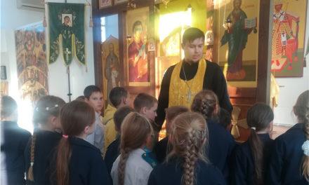 Учащиеся Вареновской школы посетили с экскурсией храм святого Александра Невского
