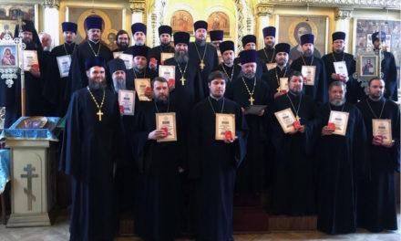 Священнослужители Таганрогского благочиния совершили благодарственный молебен по случаю восстановления Ростовского Кафедрального собора