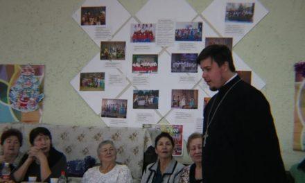 Состоялась встреча настоятеля храма Александра Невского иерея Пантелеймона Шереметьева с инвалидами сел Вареновка и Бессергеновка.
