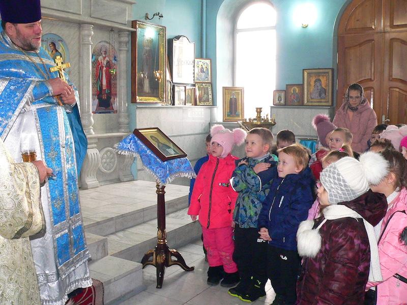 Воспитанники детского сада с. Андреево-Мелентьево посетили Магдалининский храм