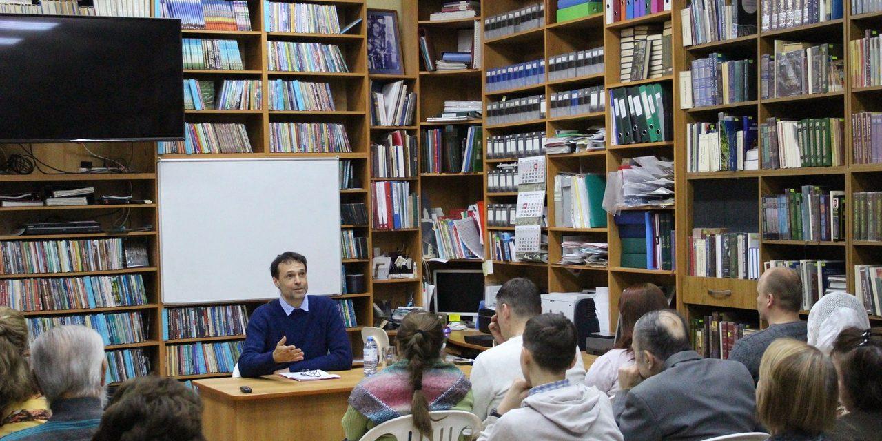 В центре семьи и молодежи состоялась лекция кандидата богословия Ивана Улитчева