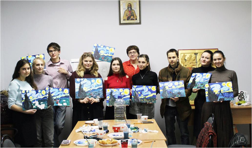 Для молодежи благочиния был проведен художественный мастер-класс