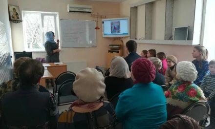 В воскресной школе храма Александра Невского с.Вареновка состоялся открытый урок, посвященный Сретенью Господню