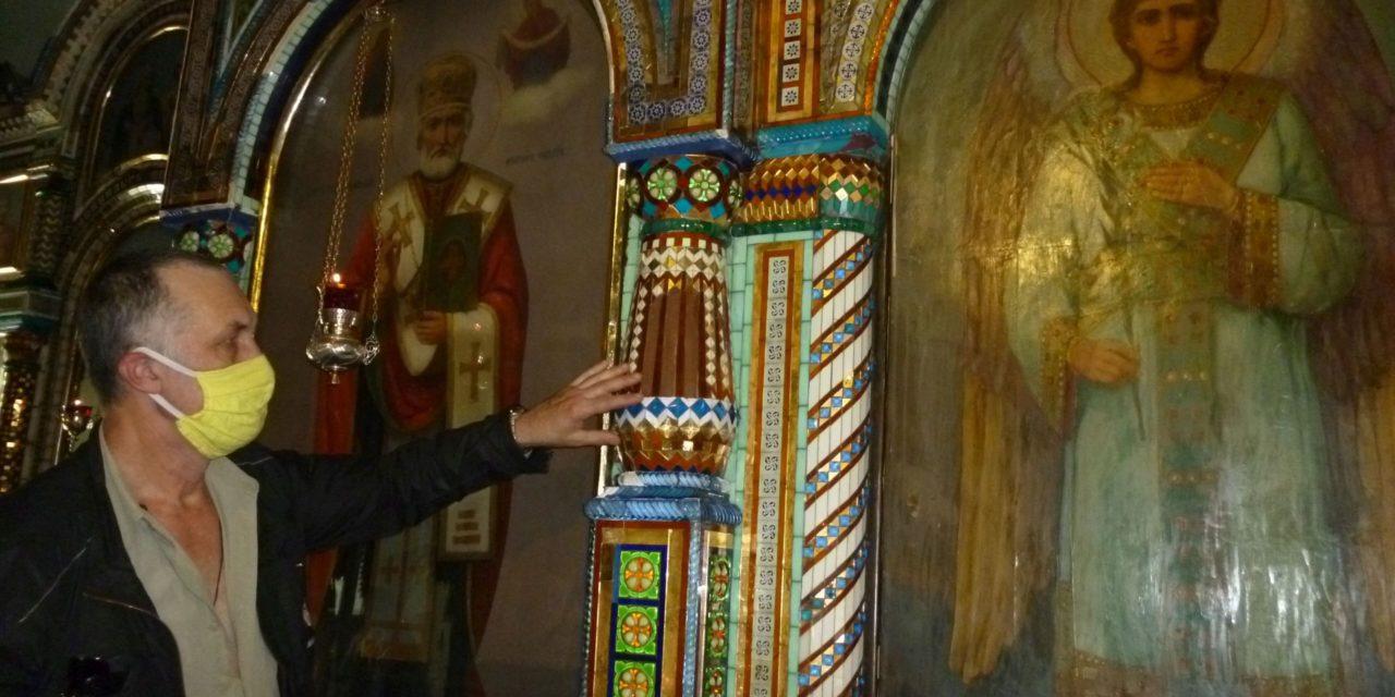 Чудо-мозаика Всехсвятского храма  постепенно возвращается к нам