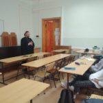 Беседа иерея Георгия Канчи со студентами кафедры Менеджмента и инновационных технологий Южного Федерального Университета