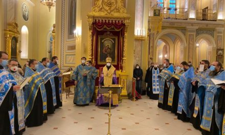 В Кафедральном соборе Ростова состоялось служение священников Таганрогского благочиния